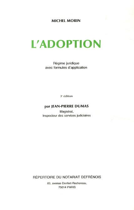 La réforme de l'adoption