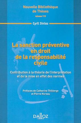 La Sanction Preventive En Droit De La Responsabilite Civile Sintez