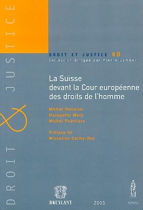 La Suisse devant la Cour européenne des droits de l'homme N°60