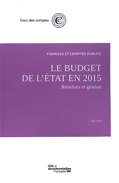 Le budget de l'Etat en 2015