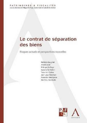 Le Contrat De Separation Des Biens Collectif 9782874555350 Lgdj Fr