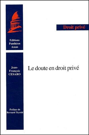 Le doute en droit privé