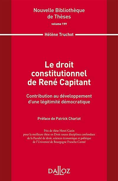 Le droit constitutionnel de René Capitant