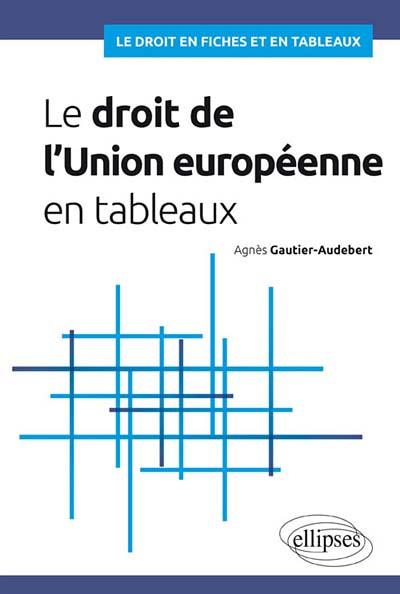 Le droit de l'Union européenne en tableaux