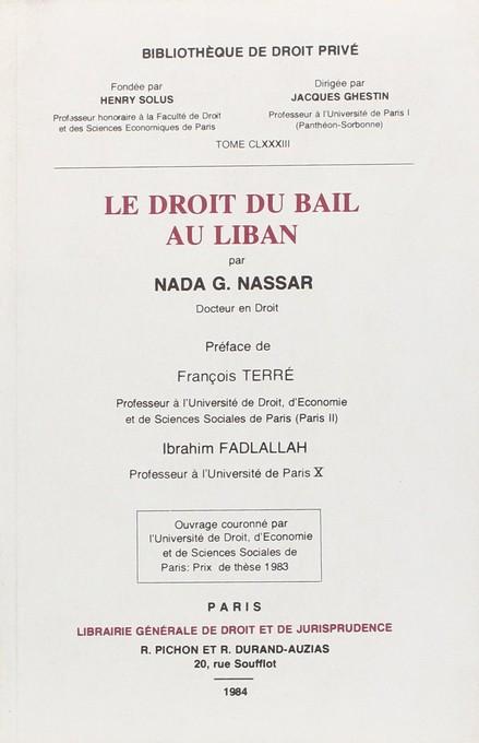 Le droit du bail au Liban