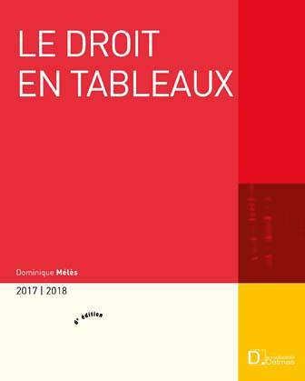 Le droit en tableaux 2017-2018