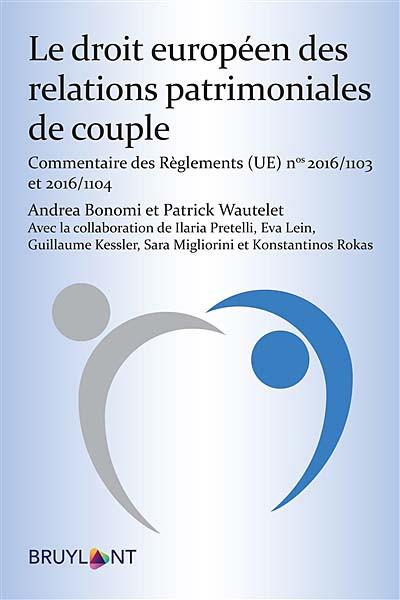 Le droit européen des relations patrimoniales de couple