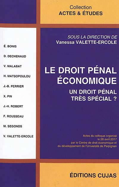 Le droit pénal économique
