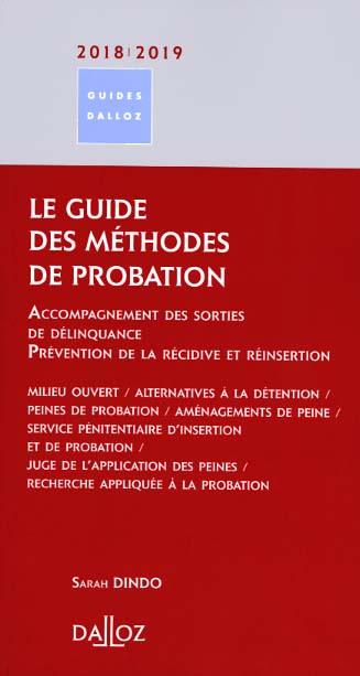 Le guide des méthodes de probation 2018-2019