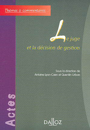 Le juge et la décision de gestion