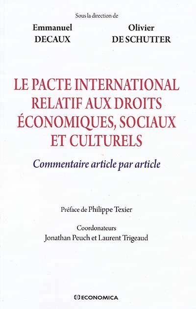 Le pacte international relatif aux droits économiques, sociaux et culturels