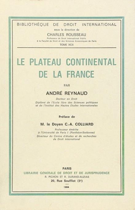 Le plateau continental de la France