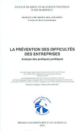 Le prévention des difficultés des entreprises