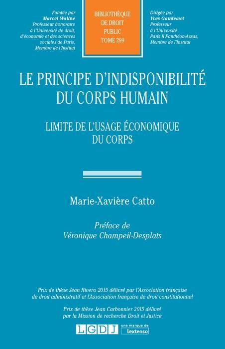 Le principe d'indisponibilité du corps humain