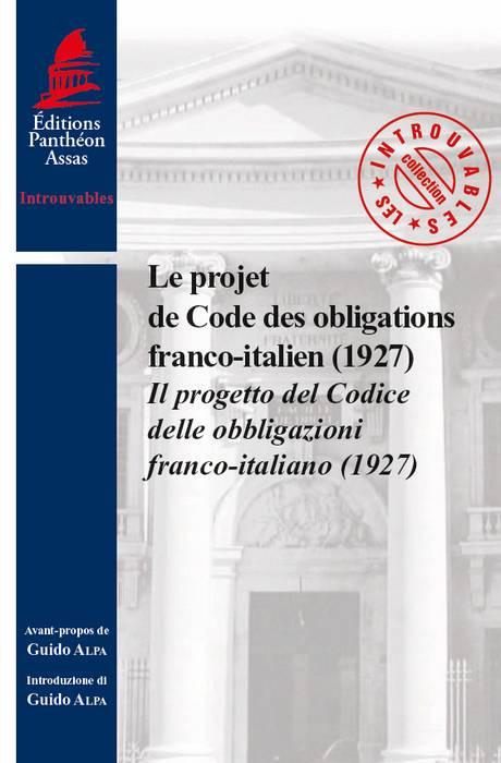 Le projet de Code des obligations franco-italien (1927)