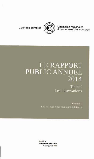 Le rapport public annuel 2014, 5 volumes