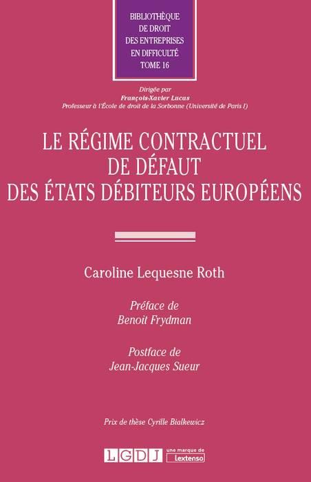 Le régime contractuel de défaut des États débiteurs européens