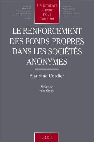 Le renforcement des fonds propres dans les sociétés anonymes