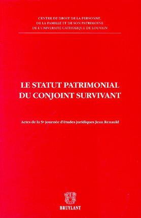 Le statut patrimonial du conjoint survivant