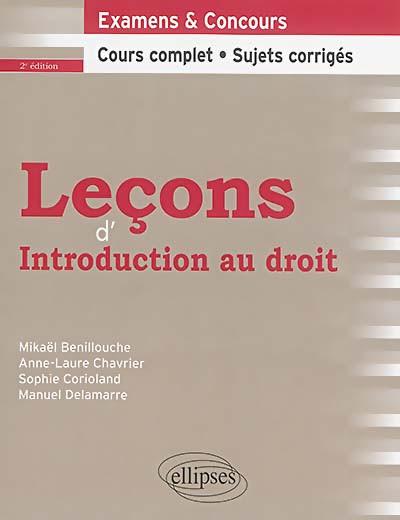 Leçons d'introduction au droit