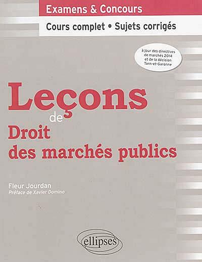 Leçons de droit des marchés publics
