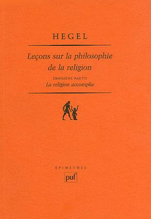 Leçons sur la philosophie de la religion
