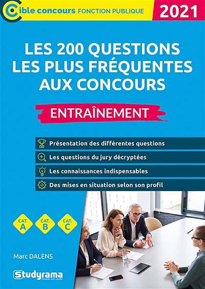 Les 200 questions les plus fréquentes aux concours : entraînement