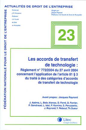 Les accords de transfert de technologie
