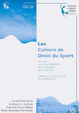 Les cahiers de droit du sport N°23
