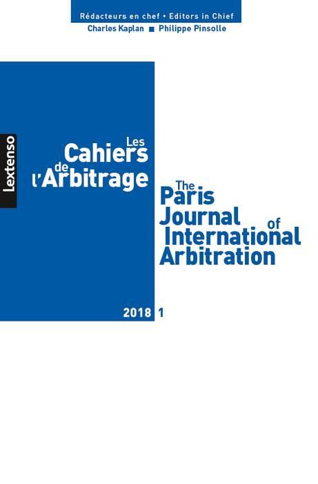 Les cahiers de l'Arbitrage N°1-2018