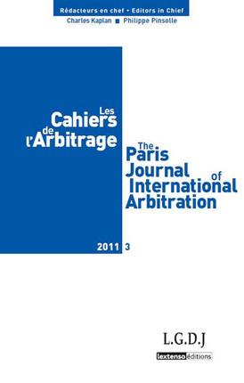 Les cahiers de l'arbitrage N°3-2011