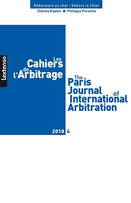 Les cahiers de l'Arbitrage N°4-2018