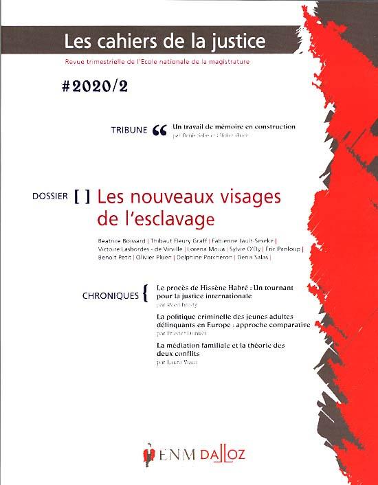 Les cahiers de la justice, 2020 N°2