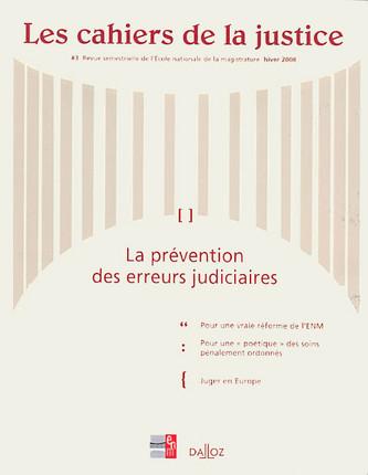 Les cahiers de la justice N°3