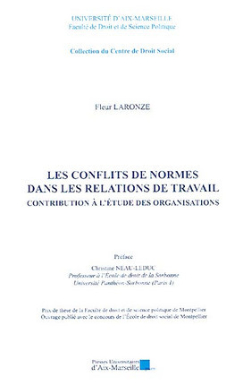 Les conflits de normes dans les relations de travail : contribution à l'étude des organisations