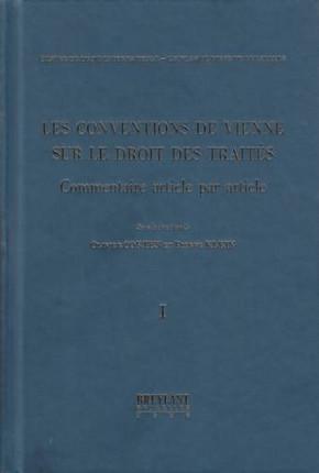 Les conventions de Vienne sur le droit des traités (en 3 volumes)