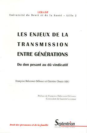 Les enjeux de la transmission entre générations