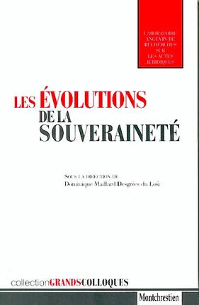 Les évolutions de la souveraineté