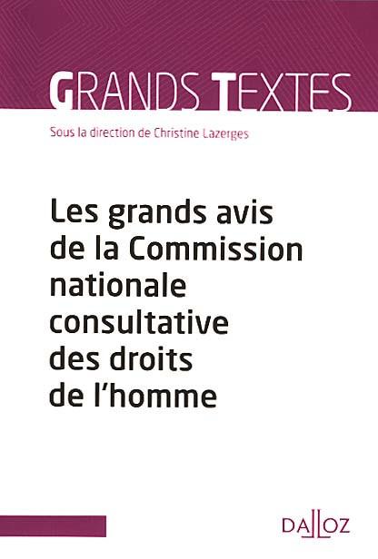 Les grands avis de la Commission nationale consultative des droits de l'homme