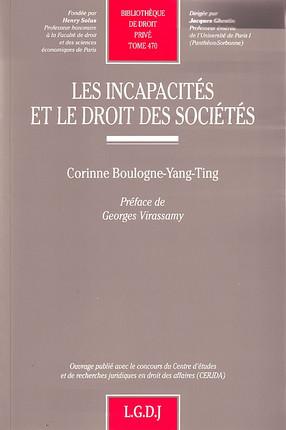 Les incapacités et le droit des sociétés