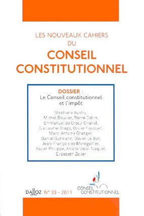 Les Nouveaux cahiers du Conseil constitutionnel, 2011 N°33