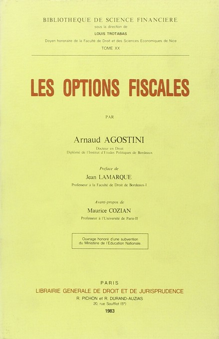 Les options fiscales