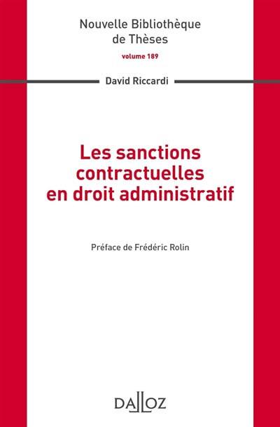 Les sanctions contractuelles en droit administratif