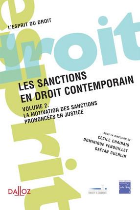 Les sanctions en droit contemporain