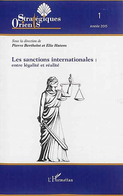 Les sanctions internationales : entre légalité et réalité