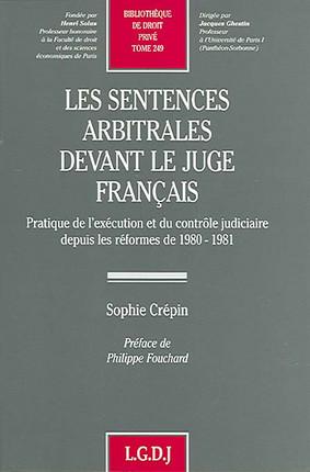 Les sentences arbitrales devant le juge français