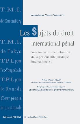 Les sujets du droit international pénal