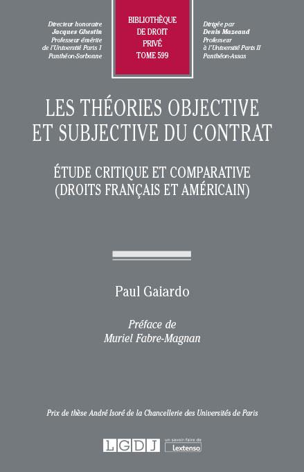 Les théories objective et subjective du contrat