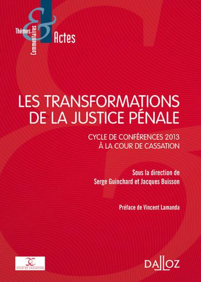 Les transformations de la justice pénale