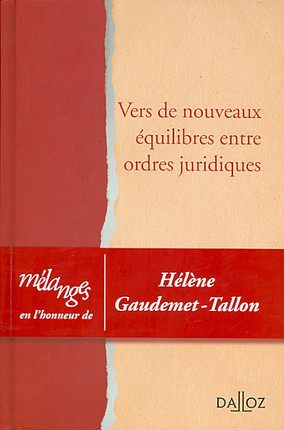 Liber amicorum Hélène Gaudemet-Tallon